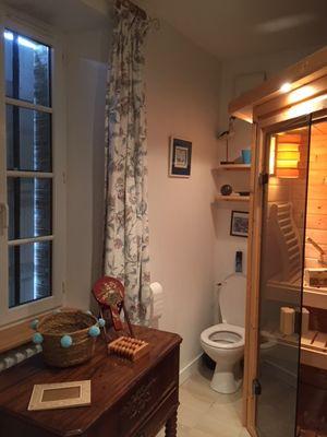 HLO53_ CH hotes le Rocher - Sauna dans chambre 1