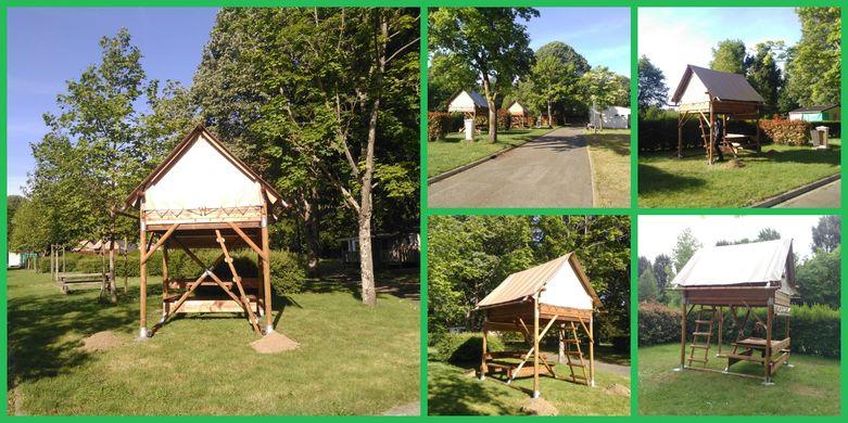 collage tentes bivouac