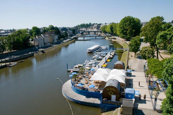 Halte fluviale sur la rivière la Mayenne à Laval