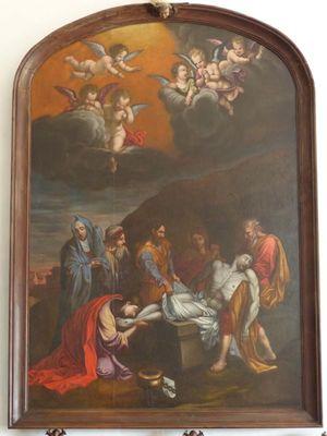PEL_La Lucerne d'Outremer_Eglise_Tableau rénové La mise au tombeau