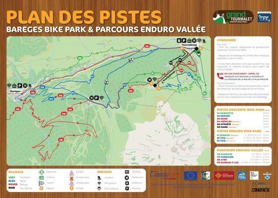 Plan des Pistes Enduro et Bike Park
