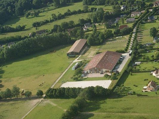 AEC Firfol Centre équestre près de Lisieux Vue de haut