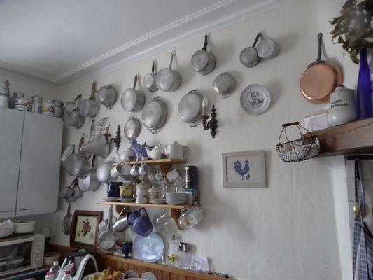 Deconinck Chambre d'hôtes Crevecoeur-en-Auge Casseroles