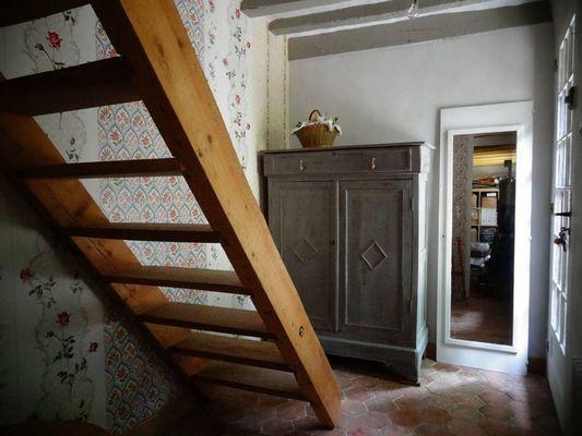 Delphine Zangs Chambre d'hôtes à Glos prés de Lisieux Escalier