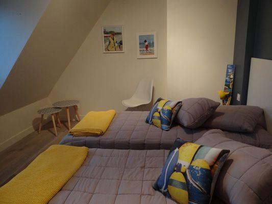Domaine des Monts Flambards Chez Patricia Roselier Gite à Saint-Martin-de-la-Lieue Vue chambre
