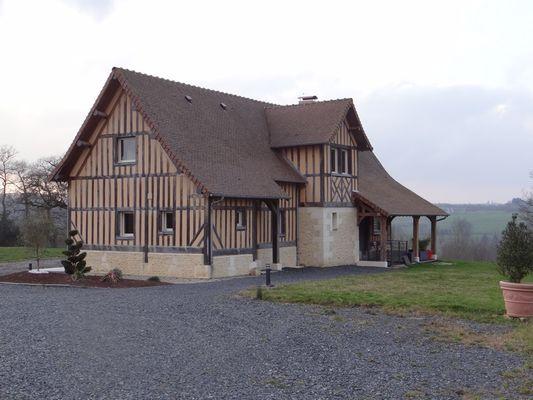 Domaine des Monts Flambards Chez Patricia Roselier Gite à Saint-Martin-de-la-Lieue Vue maison