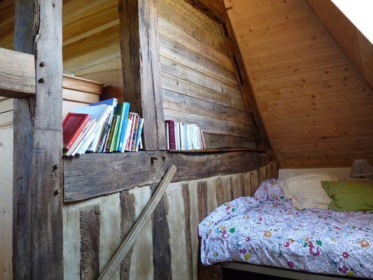 Ecologite chambre double, le lit cabane