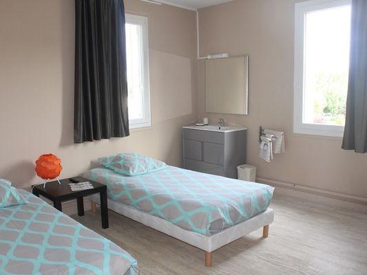 Hôtel Le Bellevue à Lisieux Chambre twin
