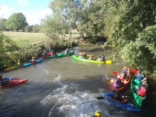 Kayaks et canoës sur la Dives
