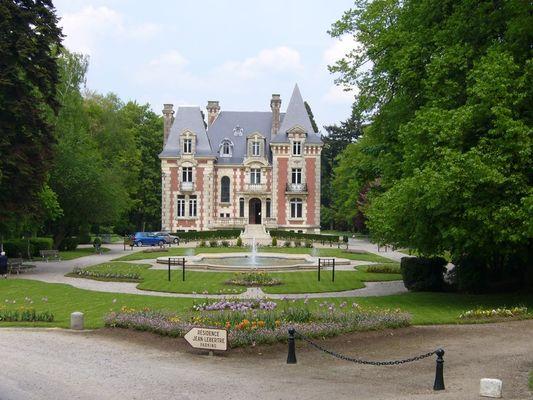 Parc du Manoir de l'Ile à Livarot pres de Lisieux Manoir
