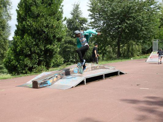 Skate park de Lisieux saut