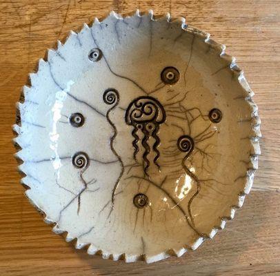 Poterie Toramur - coupelle raku méduse