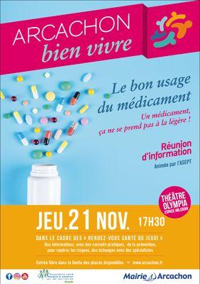 Affiche-conference Bon usage du médicament