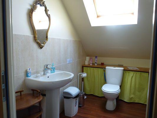 Chambres d'hôtes Métairie de la Béraudaie salle d'eau Baoziou (2) - Bohal - Morbihan - Bretagne