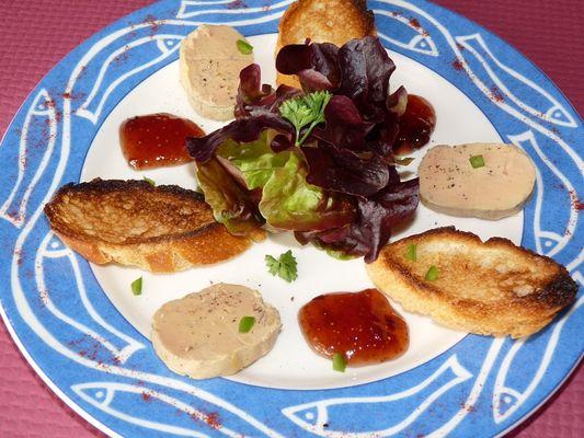 Foie gras maison et son chutney de figues au restaurant le Saint-Pierre - Sérent - Morbihan