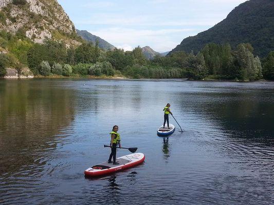 sup enfants waterploof ariège lac de sinsat