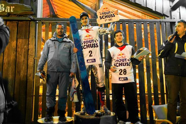 podium garçons ski red bull tout schuss ax 3 domaines