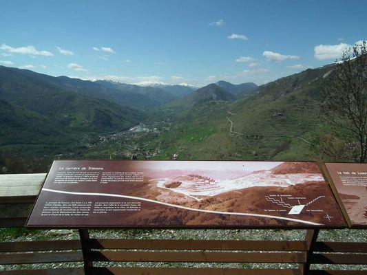 Vue sur le vilage de Luzenac