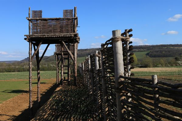 Reconstitutions fortifications romaines. Alise-Sainte-Reine