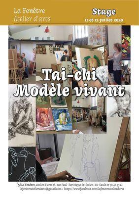 affiche tai-chi modèle vivant