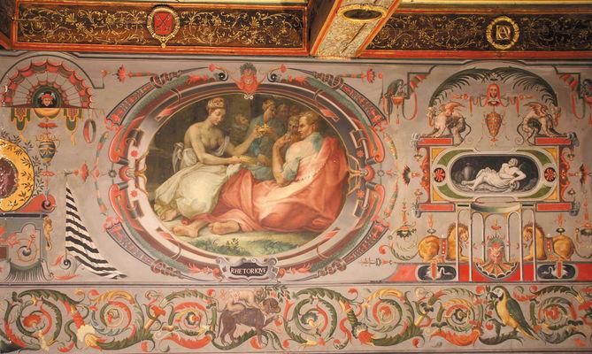 détail, chambre des Arts, Château d'Ancy le Franc