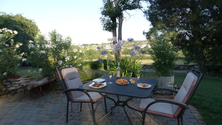 repas sur terrasse