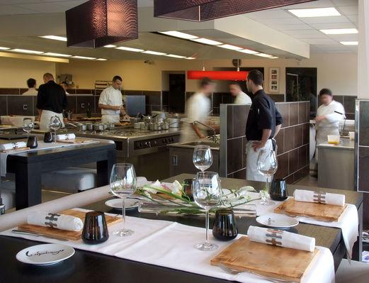 Table client en cuisine
