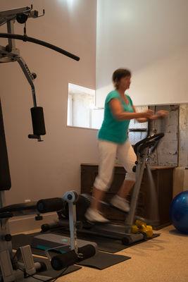 Salle de fitness dans le château