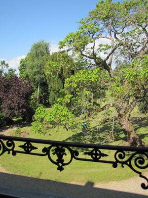 Vue du jardin depuis la Chambre Merise