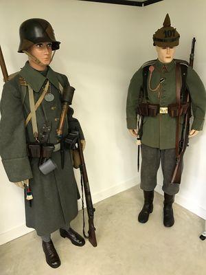 Infanterie Allemande en Aout 1914 sur la Marne et lors de la retraite de Champagne en 1918