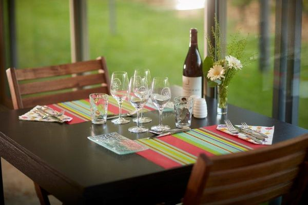 Déjeuner chez un vigneron près des vignes