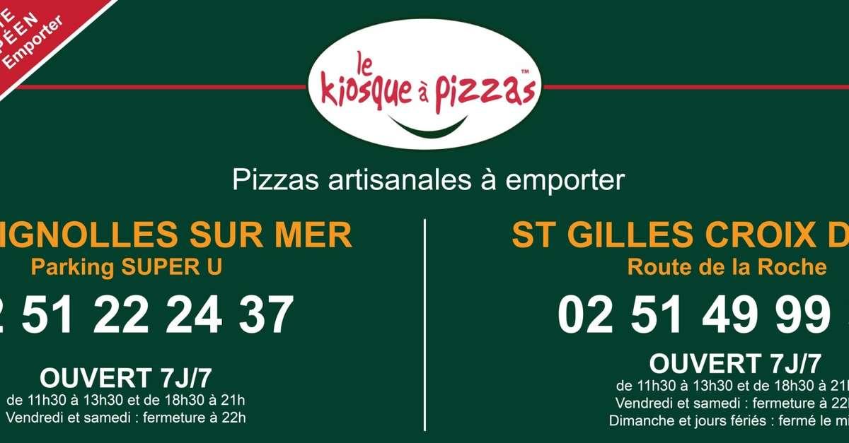 Carte Kiosque A Pizza.Le Kiosque A Pizzas Restauration Rapide Bretignolles Sur Mer