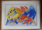 Peintres et la mine - Edouard PIGNON - Combats de coqs (tricolore).jpg
