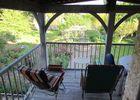 Balcon avec vue sur le jardin