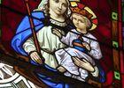 Aisne, REMIGNY. Vierge à l'enfant, église Saint-Martin. EMILIE MARTIAL CCVO bis