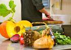 cuisine avec des produits frais