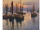 Fernand LE GOUT-GERARD (1854-1924) - Sardiners, le soir