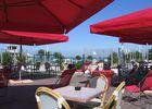 Bar de la plage terrasse vue mer Merville-Franceville-Plage