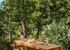 villa nakalta - piscine privée - location de charme- cazoules-Terrasse-ombrage -1