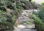 Un Jardin à Moncontour -Escalier-talus
