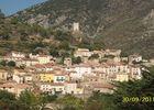 Campotel de Roquebrun - Vue terrasse Chalet 7