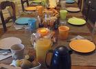 Petit déjeuner dans la cuisine