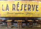 Restaurant La réserve PALAMINY mur salle
