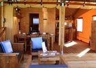 luxury lodge terrasse et séjour Pre fixe CASSAGNABERE