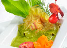 Raviole de homard à l'oseille de printemps - restaurant Hostellerie du Vert_01