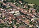 vue aérienne de la bastide de Geaune