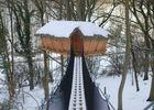 La Chaussée - Cabanes - Les Faines sous la neige, suivez les pointillés...