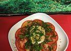 Salade de tomates au Neufchâtel basilic