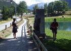 Parcours longeant le lac