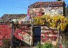 Entrée et terrasse en automne